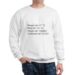 ascii cat moods Sweatshirt