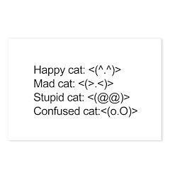 ascii cat moods Postcards (Package of 8)