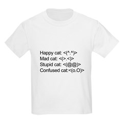 ascii cat moods T-Shirt