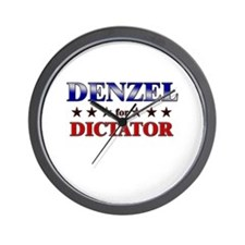 DENZEL for dictator Wall Clock