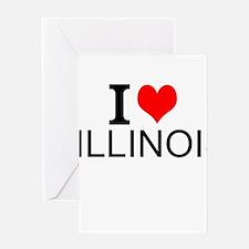 I Love Illinois Greeting Cards