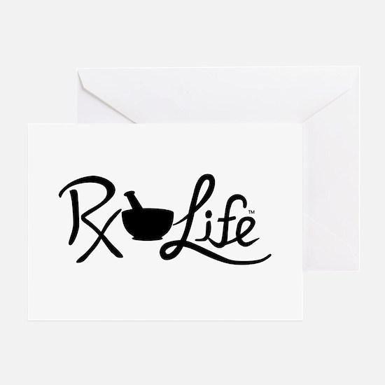 Black Rx Life Greeting Card