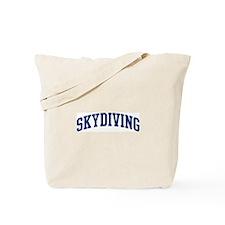 Skydiving (blue curve) Tote Bag