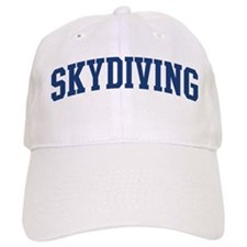 Skydiving (blue curve) Baseball Cap