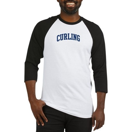 Curling (blue curve) Baseball Jersey