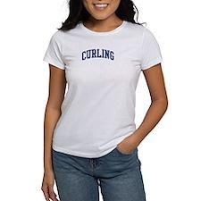 Curling (blue curve) Tee