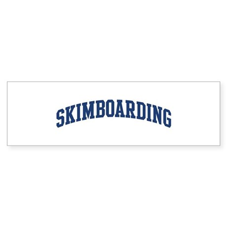 Skimboarding (blue curve) Bumper Sticker
