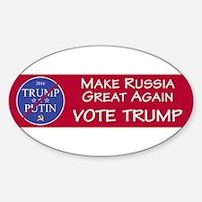 Make Russia Great Again, Vote Trump Decal