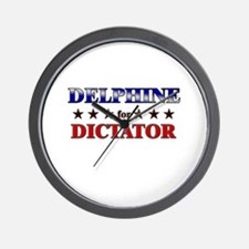 DELPHINE for dictator Wall Clock