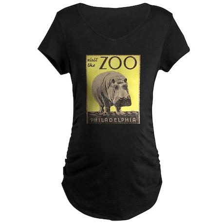 Vintage Philadelphia Zoo Maternity Dark T-Shirt