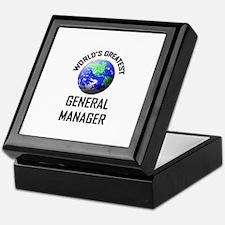 World's Greatest GENERAL MANAGER Keepsake Box