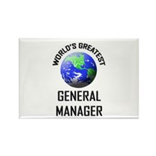 World's Greatest GENERAL MANAGER Rectangle Magnet