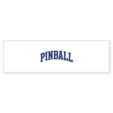 Pinball (blue curve) Bumper Sticker