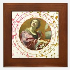 Saint Cecilia Framed Tile