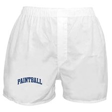 Paintball (blue curve) Boxer Shorts