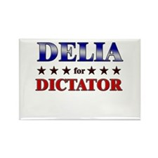 DELIA for dictator Rectangle Magnet