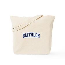 Biathlon (blue curve) Tote Bag