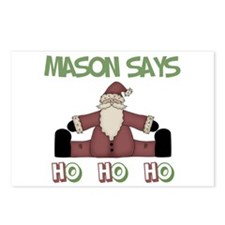 Mason Says Ho Ho Ho  Postcards (Package of 8)