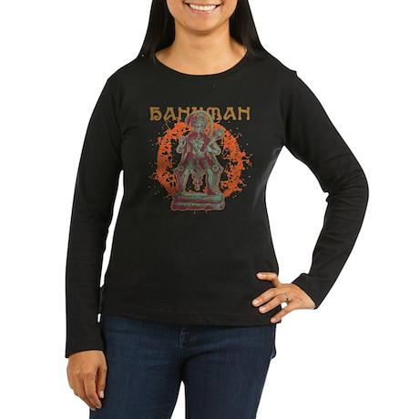 Hanuman Women's Long Sleeve Dark T-Shirt
