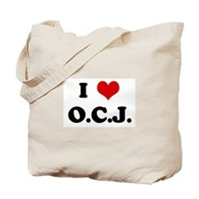 I Love O.C.J. Tote Bag