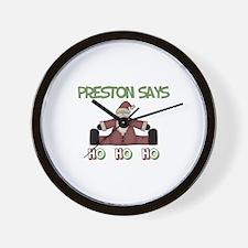 Preston Says Ho Ho Ho  Wall Clock