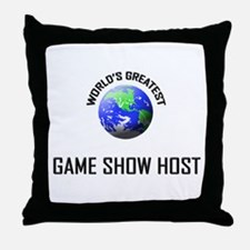World's Greatest GAME SHOW HOST Throw Pillow