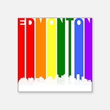 Edmonton Alberta Gay Pride Rainbow Skyline Sticker