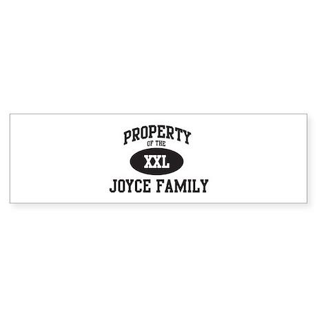 Property of Joyce Family Bumper Sticker