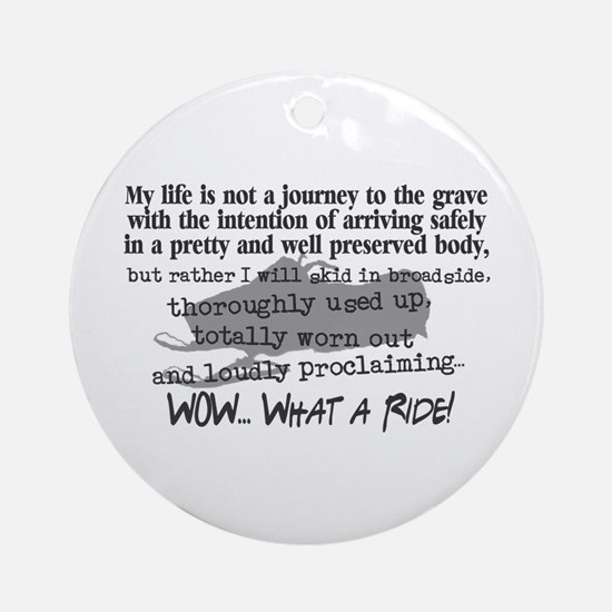Journey to the Grave Ornament (Round)