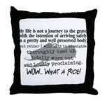 Journey to the Grave Throw Pillow