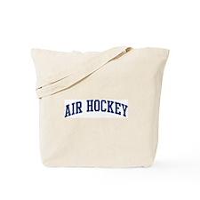Air Hockey (blue curve) Tote Bag