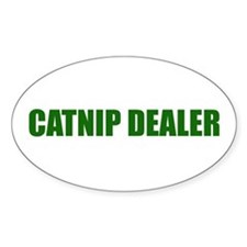 CATNIP DEALER Oval Decal
