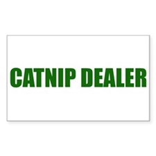 CATNIP DEALER Rectangle Decal