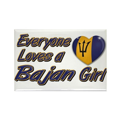 Everyone loves a Bajan girl Rectangle Magnet (10 p