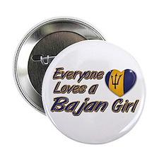 """Everyone loves a Bajan girl 2.25"""" Button"""