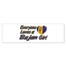 Everyone loves a Bajan girl Bumper Bumper Sticker
