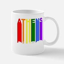 Athens Greece Gay Pride Rainbow Skyline Mugs