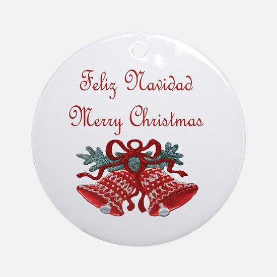 Spanish Christmas Ornament (Round)
