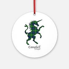 Unicorn-Campbell of Argyll Round Ornament