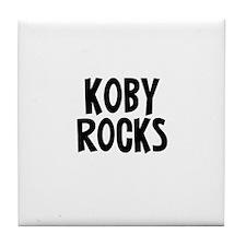 Koby Rocks Tile Coaster