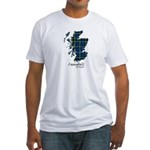 Map - Campbell of Argyll Fitted T-Shirt