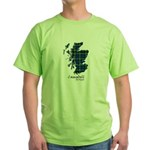 Map - Campbell of Argyll Green T-Shirt