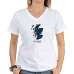 Map - Campbell of Argyll Women's V-Neck T-Shirt