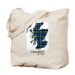 Map - Campbell of Argyll Tote Bag
