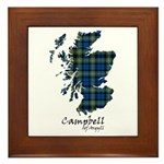 Map - Campbell of Argyll Framed Tile