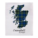 Map - Campbell of Argyll Throw Blanket