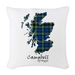 Map - Campbell of Argyll Woven Throw Pillow