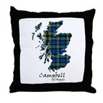 Map - Campbell of Argyll Throw Pillow