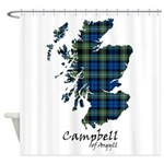 Map - Campbell of Argyll Shower Curtain
