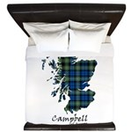 Map - Campbell of Argyll King Duvet